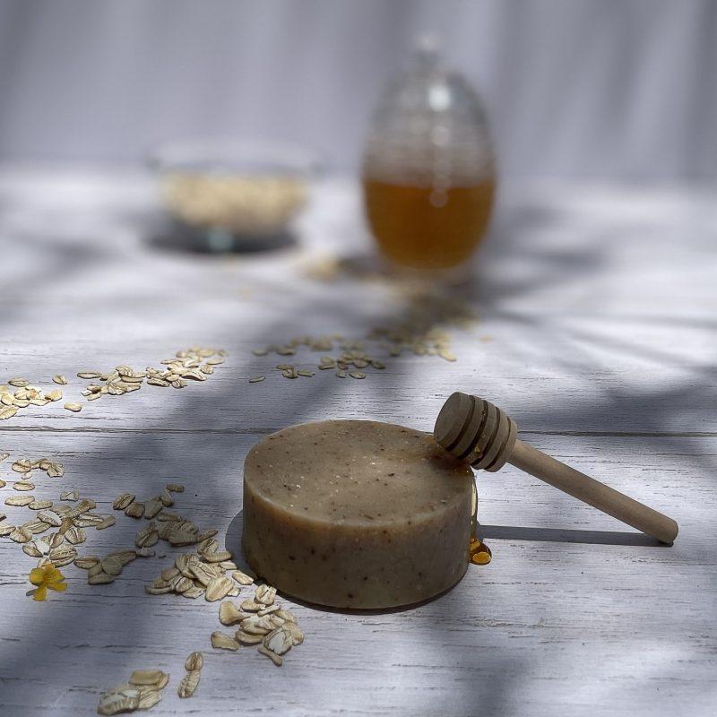 jabon glicerina avena y miel