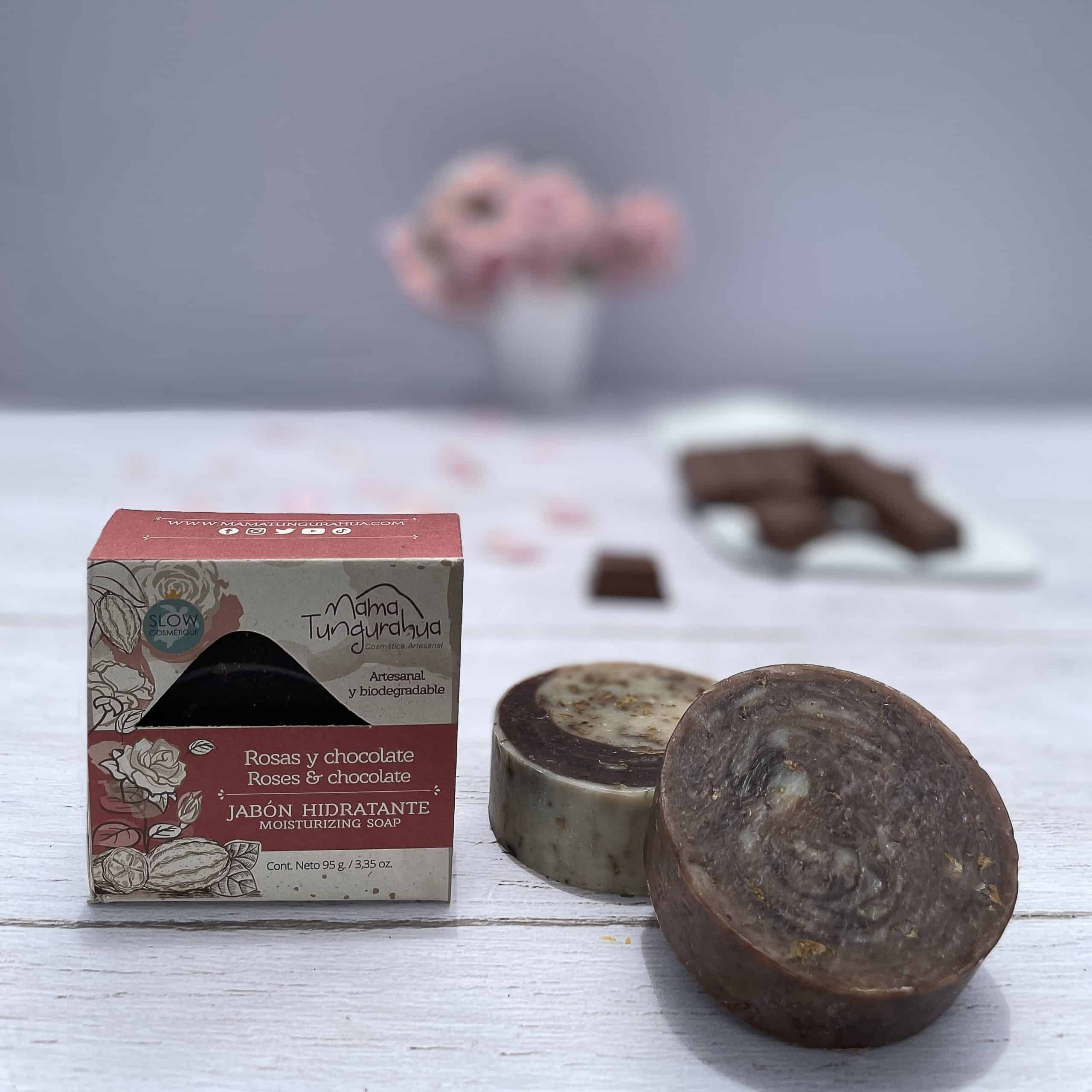 Jabón de rosas y chocolate